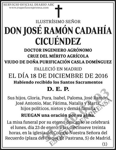 José Ramón Cadahía Cicuéndez